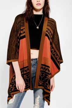 Gentle Fawn Poncho Sweater