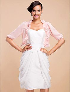 3/4 Sleeve Chiffon Evening/Casual Wrap/Jacket(More Colors) – GBP £ 13.91