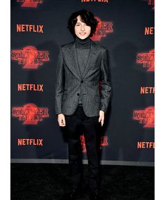 Finn Wolfhard photographed at the Stranger Things season 2 premiere. (10.26)