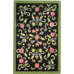 Flower Dance Hooked Rug From Susan Sargent