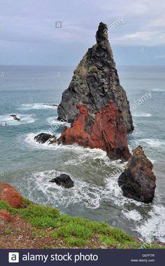 coast island madeira Stock Photo
