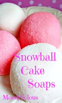 """Just in time for the Holidays !... """"Snowballs Cake Soaps"""""""