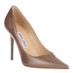 5f3b23e3517 Jimmy Choo - Sand Leather Abel Shimmer Stiletto Court Shoes Heel 10cm Court  Shoes