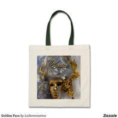 Golden Face Tote Bag