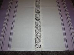 anitac / Obrus fialový prúžok s čipkou