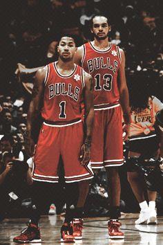 b1aed0be6d72 Favorite PG D-Rose and tornado like teammate Joakim Noah. Chicago Bulls  Basketball