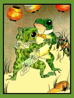 Frogs Dancing Refrigerator Magnet    FREE US by LABELSTONE on Etsy, $4.75
