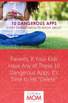 """Parents, If Your Kids Have Any of These 10 Dangerous Apps, It's Time to Hit """"Delete"""" - For Every Mom"""