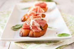 Prosciutto Bruschetta with Browned Sage Butter...not sure when I'd have an occasion to make this, but I'll find one!
