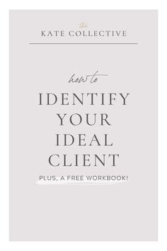 Are you trying to brand, or re-brand your creative business but aren't sure what step to take first? Download my Ideal Client Workbook to start processing who you're actually marketing to so that you can brand for success!   Get more brand resources and web design at www.thekatecollective.com