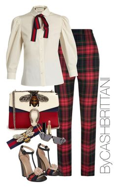 """Gucci everything"" by bycashbrittani on Polyvore featuring Burberry, Gucci and Christian Dior"