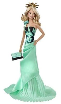 Barbie Collector Dolls of the World Statue of Liberty Doll by Mattel. $50.51. Bringing world-famous landmarks to life through Barbie fashion. Transforms this landmark into a stunning gown complete with themed accessories. In celebration of the 30th anniversary of the Barbie Dolls of the World Collection. Barbie Dolls of the World Landmark Collection. An absolute must have for all Barbie Collectors. From the Manufacturer                Barbie Collector Dolls of the World Statue o...