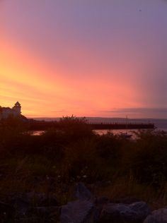Taken a picture of the sunset in Portishead....