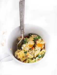 Perhaps one of the easiest and quickest breakfast options, this recipe for eggs in a mug will leave your kid feeling full and ready to tackle the school day.