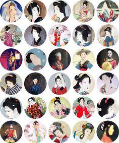 Asia 17  1.5 Inch Circles  Digital Collage Sheet by por cachecache, $2.50