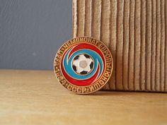 Soviet PIN / Football / Soviet BADGE / Vintage Brooch by EUvintage
