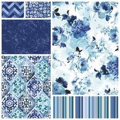 """I just love these beautiful watery blues in Dear Stella's """"Kyani"""" collection available at the Fabric Shack at http://www.fabricshack.com/cgi-bin/Store/store.cgi Just search for """"Kyani"""" Repinned: Kyani teaser"""