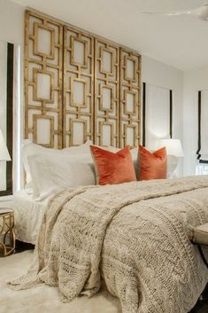 You spend a major part of your life in bed, so it is a good idea to make it a wonderful sleep-time oasis. [Bedroom Ideas, Bedding Ideas, Cozy Bedding, Cozy Bedding Ideas, Bedroom Decor, Wool Quilt, Textile Decor, Bedroom Design]