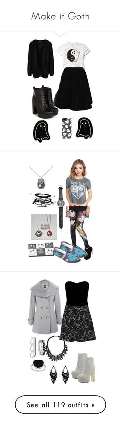 """""""Make it Goth"""" by loveisablindwar ❤ liked on Polyvore featuring Hollister Co., Chicwish, Rut&Circle, Samsung, Wet Seal, Disney, River Island, Cinzia Rocca, Lipsy and AS29"""