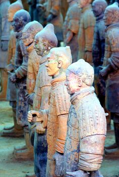 Terracotta Army, over 8000 life-sized, hand carved soldiers and horses.  Xi'an, Shaanxi province, China