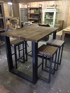 Church Interior Design, Rustic Home Design, Rustic Kitchen Island, Wooden Kitchen, Living Room Storage, Cozy Living Rooms, Metal Furniture, Industrial Furniture, Furniture Nyc