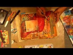 Building up An Art Journal page - YouTube