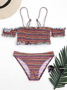 $16.49  Colorful Zig Zag Smocked Bikini Set   zaful,bathing suit,swimsuits,summer,cute,beach weekend packing,women fashion,summer outfits,one pieces,swimwear,bikini set,summer fashion,Hawaii,bikini,chic,fall,fall outfits,teen bathing suits,fall fashion,bikinis,summer swimsuits,one piece swimwear,beach outfit,teen swimsuits,beach,summer bikinis,swimwear cover ups,zaful fashion,one piece swimsuit,bikini swimsuits,outfit,outfits,outfit ideas,womens fashion