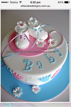 What my baby shower cake will be like