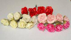 Różyczki Papierowe 2cm / Paper Roses