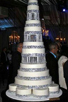 wedding cake for Melanie and Denny