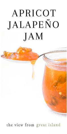 Apricot Jalapeño Jam ~ a delicious appetizer with soft cheese and crackers. Do this easy hot pepper jam as a small batch, refrigerator style, or can it. Jalapeno Jelly Recipes, Pepper Jelly Recipes, Jalapeno Jam, Hot Pepper Jelly, Apricot Jam Recipes, Apricot Spread Recipe, Apricot Pie, Coconut Oil Weight Loss