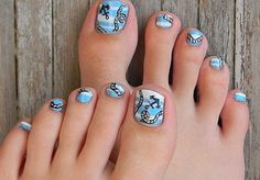 toe nail designs - Fabulous Toe Nail Designs –