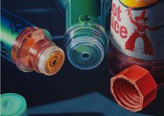Glennray Tutor - Caps Off (2002) oil on canvas, 23 x 30 inches  #glennraytutor #caps #off #artist #oil #canvas #hotsauce #photorealism #gregthompsonfineart #argenta #art