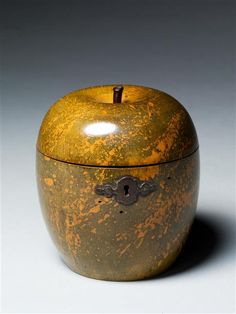 ANTIQUE APPLE TEA CADDY
