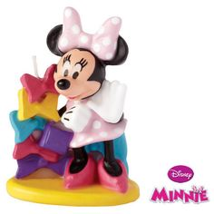 "Minnie Mouse Clubhouse Candle Party Supplies Wilton Cake Topper  MINNIE MOUSE Birthday Candle  Always party favorites, Minnie candles are handpainted with fun details. Clean-burning. 3"" high"