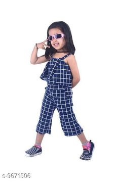 Checkout this latest Dungarees & Jumpsuits Product Name: *Pretty Girls Jumpsuit* Fabric: Polyester Sleeve Length: Sleeveless Pattern: Self Design Multipack: 1 Sizes:  2-3 Years (Bust Size: 21 in, Waist Size: 20 in)  3-4 Years (Bust Size: 23 in, Waist Size: 21 in)  4-5 Years (Bust Size: 25 in, Waist Size: 22 in)  5-6 Years (Bust Size: 26 in, Waist Size: 23 in)  6-7 Years (Bust Size: 27 in, Waist Size: 24 in)  7-8 Years (Bust Size: 28 in, Waist Size: 25 in)  Country of Origin: India Easy Returns Available In Case Of Any Issue   Catalog Rating: ★3.9 (852)  Catalog Name: Flawsome Stylus Kids Girls Dungarees & Jumpsuits CatalogID_1712934 C62-SC1156 Code: 043-9671506-528