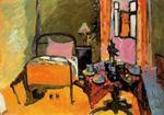 """Interior"", oleo de Kandinsky (1866-1944, Russia)"