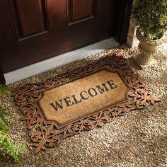 Coir Welcome Doormat Front Door Mats, Front Porch, Outdoor Living, Outdoor Decor, Welcome Spring, Welcome Mats, Coir, Doormat, Apartment Living