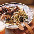 Chicken Thighs, use sweet potato, add arugula.