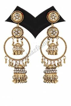 Golden Alloy Earrings Online From Latest Wedding Bridal And Festive Jewellery Collection Get