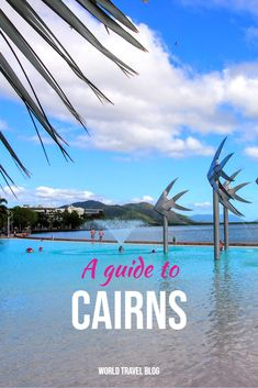 Cairns Australia. Guide to things to do and having fun. Cairns Far North Queensland beautiful Australia. Picture : The Cairns Lagoon and Esplanade Perth, Brisbane, Melbourne, Sydney, Cairns Queensland, Visit Australia, Queensland Australia, Australia Travel, Western Australia