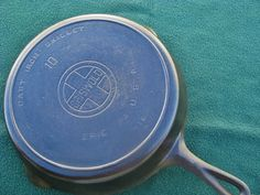 # 10 GRISWOLD ERIE PA SKILLET LARGE BLOCK/HEAT RING VERY GOOD CONDITION