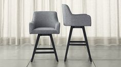 Harvey Swivel Bar Stools | Crate and Barrel