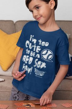 Rookie Wear by Smack Apparel Boston Baseball Fans NB-4T Too Cute Navy Onesie or Toddler Tee Anti-Yankees