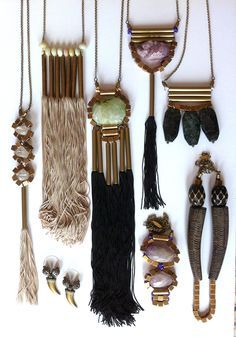 SO beautiful! mimi scholer barcelona : jewelry : avant garde : bohemian : necklaces