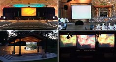 Your DIY projector screen experts make it easy to build a brag-worthy projector screen for a home or backyard theater, large venue or a golf simulator. Screen Material, Golf Simulators, Stage Design, Projector Screens, Diys, Scenery, Diy Projects, Places, Worship