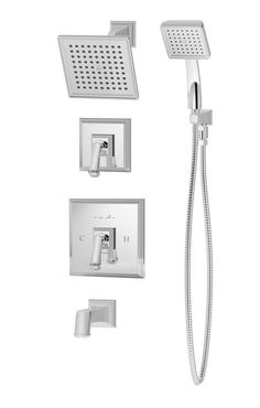Oxford Pressure Balance Tub and Shower System with Lever Handle