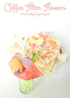 Coffee Filter Flowers | Colorful Bouquet | Paper Flower Tutorial