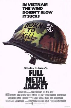 1987: Full Metal Jacket  War films were the kings of the late 1980s. Here the film used central prop and a catchy tagline to edge out the also-beautiful Empire of the Sun poster.