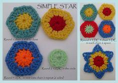 Crochet Flower in a star